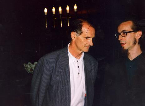 Z prawej Jerzy Korzeń (własc. Michał Pietrzak, Wspólnota Leeeżeć, tłumacz)