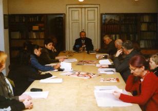 Konferencja prasowa na temat uczestnictwa MSŁ w festiwalu Europalia 2001