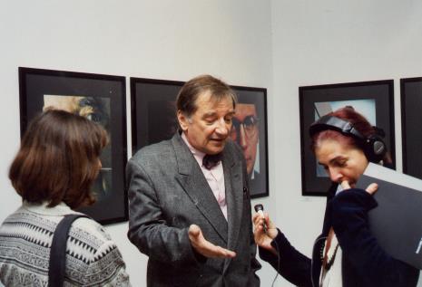 Krzysztof Gierałtowski udziela wywiadu red. Krystynie Namysłowskiej (Polskie Radio)