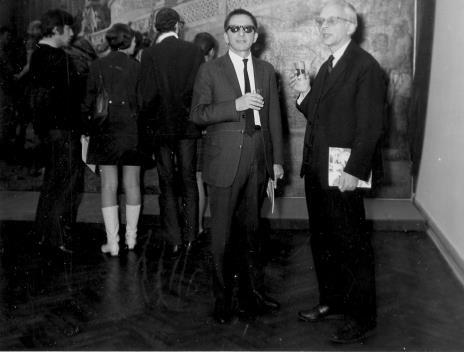 Dyr. Ryszard Stanisławski i prof. Mieczysław Porębski