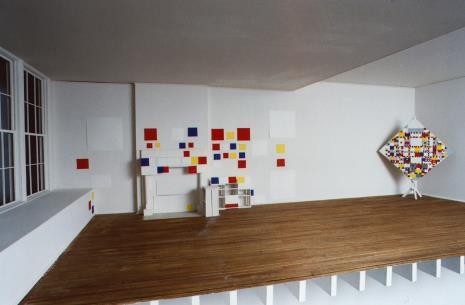 Makieta nowojorskiego studia Pieta Mondriana