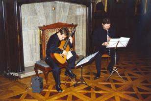 Salon muzyczny w pałacu Herbsta. Duo Guitarinet: Krzysztof Pełech, Jakub Bokun