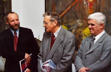 Od lewej dyr. Mirosław Borusiewicz (ms), Krystyn Zieliński, Jacek Ojrzyński (wicedyrektor ms)