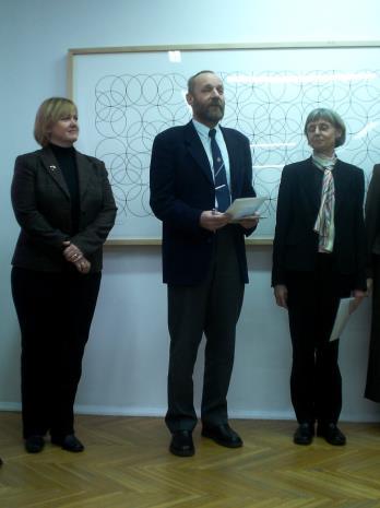 Od lewej Susan Maingay (dyr. The British Council w Polsce), dyr. Mirosław Borusiewicz, Eva Ayton (zastępca dyrektora The British Council w Polsce)