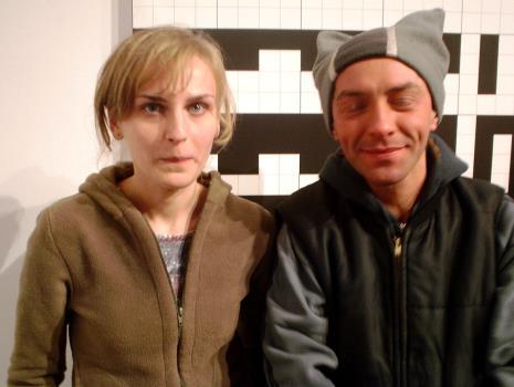 Monika Wesołowska i Andrzej Miastkowski (Dział Realizacji Wystaw)