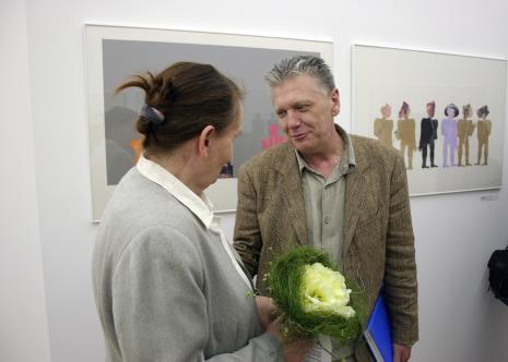 Kuratorka wystawy Zenobia Karnicka (Dział Sztuki Nowoczesnej) w rozmowie z Dariuszem Bieńkowskim
