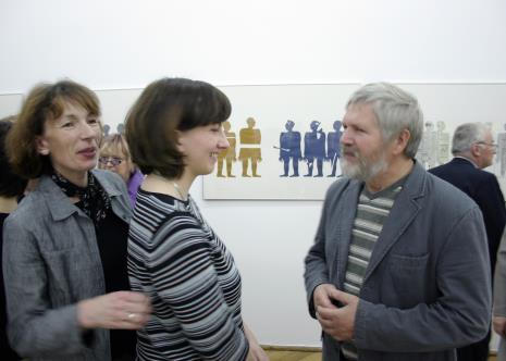 Anna Saciuk-Gąsowska i Paulina Kurc (Dział Sztuki Nowoczesnej) w rozmowie z Janem Dobkowskim