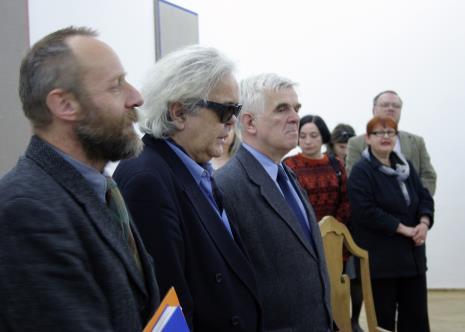 Na pierwszym planie dyr. Mirosław Borusiewicz (ms), Andrzej Dłużniewski, Jacek Ojrzyński (wicedyrektor ms)