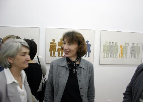 W środku Anna Saciuk-Gąsowska (Dział Sztuki Nowoczesnej)
