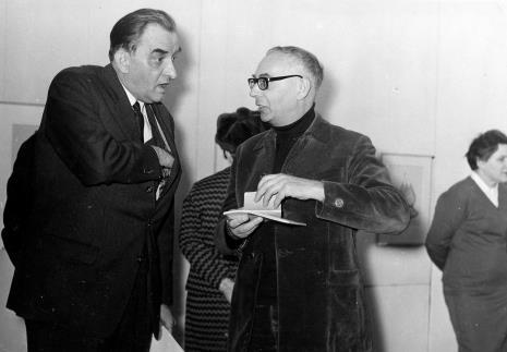 Jiři Kotalik (dyrektor Narodni Galerie w Pradze) w rozmowie z krytykiem Szymonem Bojko