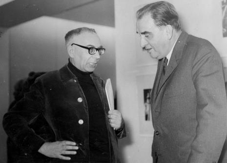 Szymon Bojko w rozmowie z Jiřim Kotalikiem (dyrektor Narodni Galerie w Pradze)