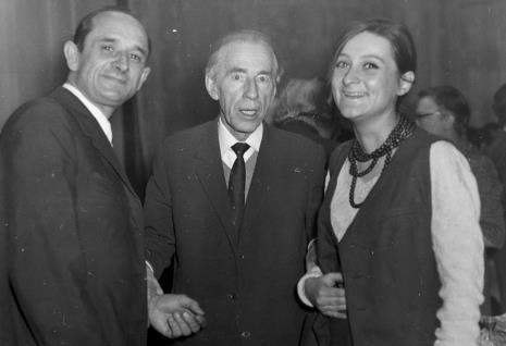 Od lewej malarze: Stefan Krygier, Konstanty Mackiewicz, x