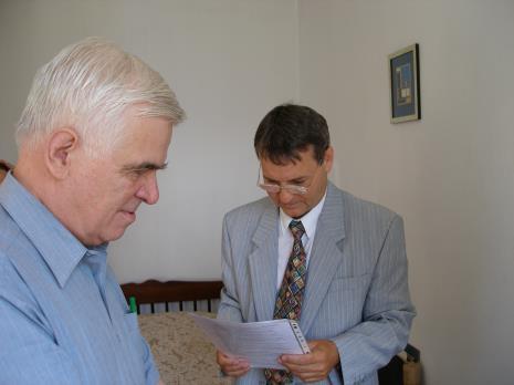 Dr Jacek Ojrzyński (wicedyrektor ms) i Adam Paczkowski