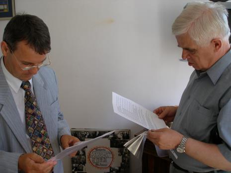 Adam Paczkowski i dr Jacek Ojrzyński
