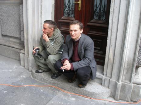 Kierownicy działów: Andrzej Miastowski (Dział Realizacji Wystaw i Wydawnictw) i Wojciech Goczkowski (Dział Edukacji)