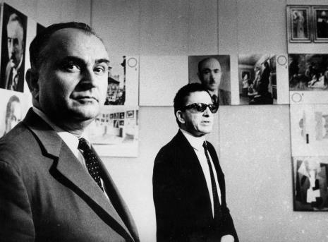 Ryszard Stefańczyk (kierownik Wydziału Kultury i Sztuki RN w Łodzi) i dyr. Ryszard Stanisławski
