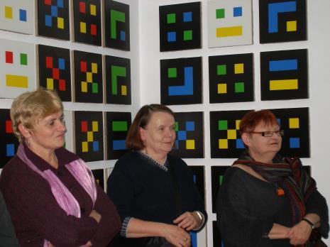 Od lewej Mirosława Motucka (kier. Działu Dokumentacji Naukowej), Zenobia Karnicka (Dział Sztuki Nowoczesnej), Marta Ertman (Dział Sztuki Polskiej)