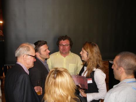 Od lewej Warren Niesluchowski, dyr. Jarosław Suchan (ms), Cezary Bodzianowski, Christine Macel (Centrum Pompidou w Paryżu), Sarmen Beglarian (kurator)