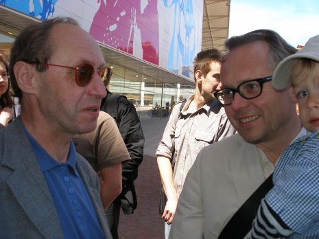 Jacek Wdzięczak (twórca książek unikatowych) i Wojciech Leder (malarz)