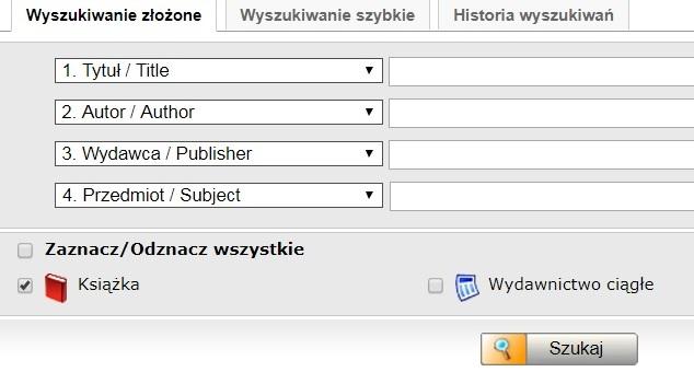 Zapraszamy do korzystania z katalogu on line